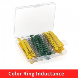 20 Values 0410 Inductor Assorted Kit 1uH-4.7MH 0.5W Color Ring Inductance 1UH 2.2UH 4.7UH 6.8UH 220UH 47UH 1MH Inductors Set