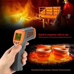 Digital Non-contact Industrial Infrared Thermometer SMART SENSOR -32~380℃ Temperature Tester Pyrometer LCD Display