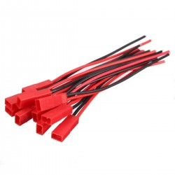 10 Pairs 2 Pins JST Male & Female Connectors Plug Cable Wire Line 110mm Red