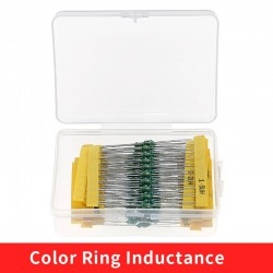 20Values 0307 Inductor Assorted Kit 1uH-4.7MH 1/4W Color Ring Inductance 1UH 2.2UH 4.7UH 6.8UH 220UH 47UH 1MH Inductors Set