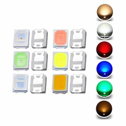 100pcs 2835 SMD LED Emitting Diode Lamp Chip Light Beads Warm Cool White Red Green Blue Yellow Color DIY