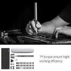 Mini Precision Electric Screwdriver Cordless Power Magnetic Screw Driver Kit with LED Light Lithium Iron Battery Operated