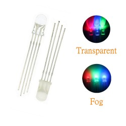 100pcs 4pin 5mm RGB LED Emitting Diode Indicator Arduino Red Green Blue Multicolor Common Anode Cathode DIY PCB Circuit Bulb