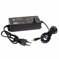 60W 3-24V Adjustable Adapter With Display Screen Of Voltage DC 5.5x2.1/2.5mm Power Supply EU Plug 5.5mmx2.1mm/2.5mm