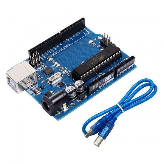 It applies to the official version of UNO R3 development board UNO board ATMEGA16U2 + MEGA328P with a USB cable