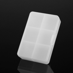 6 Grids Adjustable small components storage Box