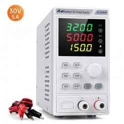 Adjustable DC Power Supply 32V 5A Lab Programmable  Memory Power unit Voltage Regulator 4 Digit Display Switching Bench Source
