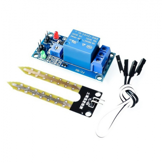 DC 5V 12V relay control module soil moisture sensor and humidity watering start switch